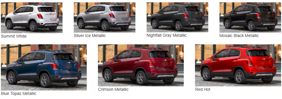 What Colours Does the 2017 Trax Come In? - available color options