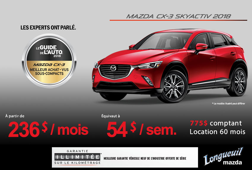 2018 Mazda Cx 3 Promotion Longueuil Mazda Promotion In Longueuil