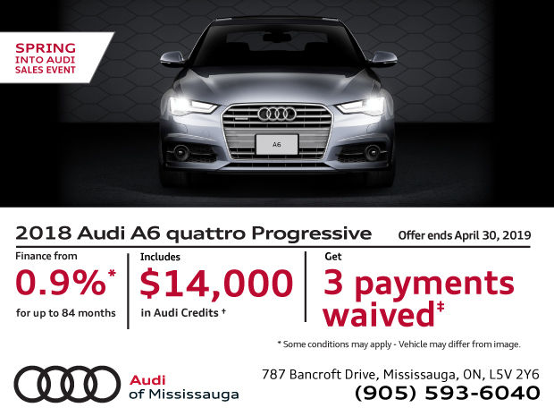 Spring Into Audi Sales Event - 2018 A6