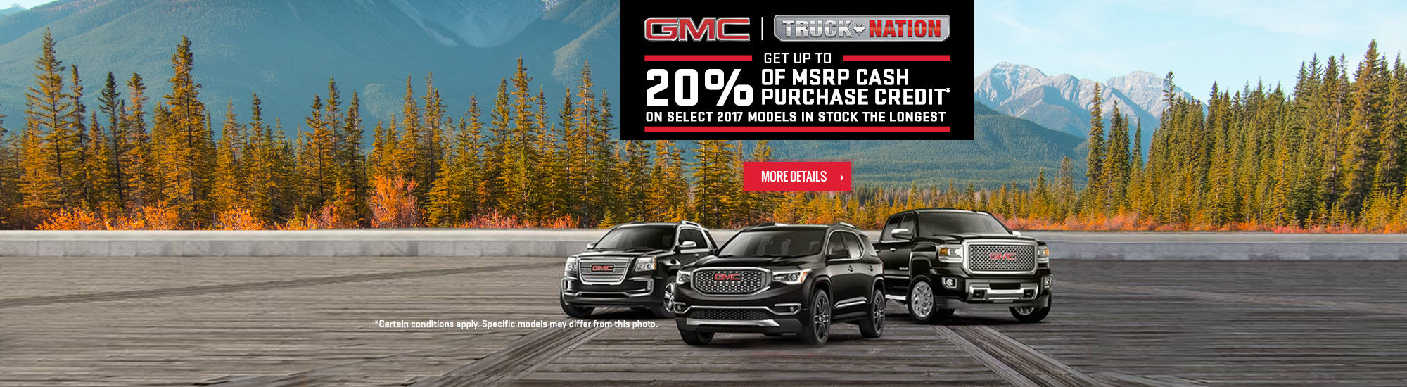 GMC Monthly Sales Event