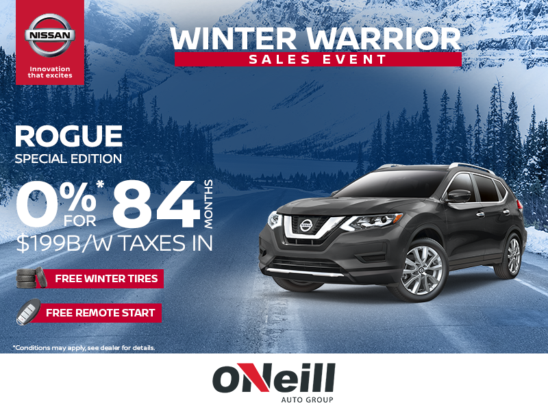 Nissan Armada Lease >> O'Neill Nissan in Mount Pearl | Winter Warrior Sales Event