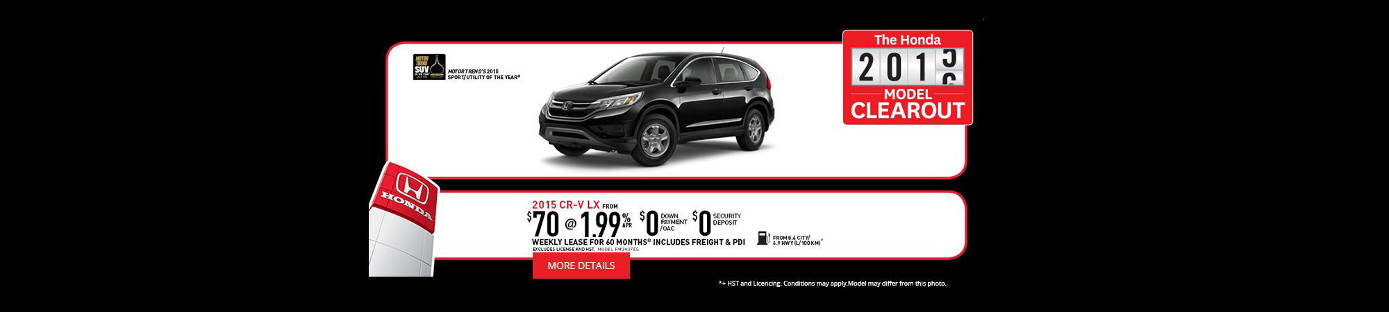 The Honda Model Clearout - CR-V