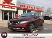 Honda Civic Touring* Extended Warranty! Back-UP CAM! Leather! 2015