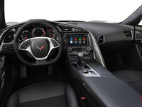 2018 Chevrolet Corvette Convertible Stingray Z51 3LT | Photo 2 | Jet Black Competition Sport buckets Leather seating surfaces with sueded microfiber inserts (196-AE4)