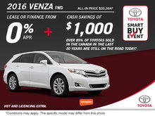 Save on the All-New 2016 Toyota Venza FWD!