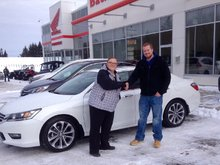 Happy with the service I received at Bathurst Honda with Tammy Aubie