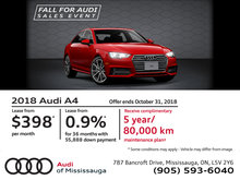 Audi A4: Fall For Audi Sales Event