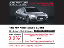 LIMITED TIME OFFER: 2018 Audi A5/S5 Coupe
