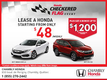 Experience Chambly Honda's Monthly Sales Event!