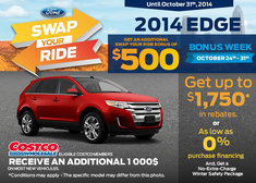 Save up to $1,750 on the 2014 Ford Edge
