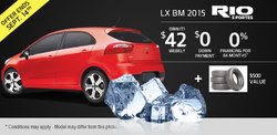 2015 Kia Rio 5 doors LX MT - Yours for only $42 per week!