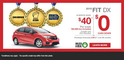 Lease the all-new 2015 Honda Fit from $40 per week!