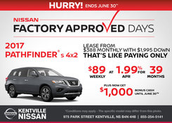 Nissan - Lease the 2017 Nissan Pathfinder Today!
