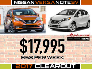 2017 Versa Clearout