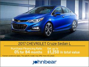 Save on the 2017 Chevrolet Cruze!