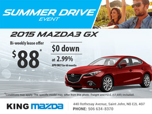 Drive home the all-new 2015 Mazda3 GX today