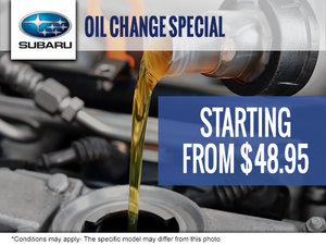 Oil Change Special starting at $48,95