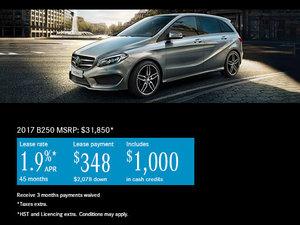 Save Big on the 2017 Mercedes-Benz B-Class 250 Today!
