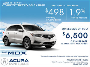 Lease the 2017 Acura MDX Today!
