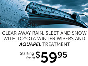 Aquapel Treatment with Toyota Winter Wipers
