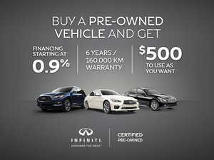 Infiniti Pre-Owned Vehicle Promotion
