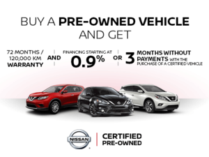 Nisssan Pre-Owned Vehicle Promotion