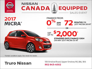 Save on the New 2017 Micra!