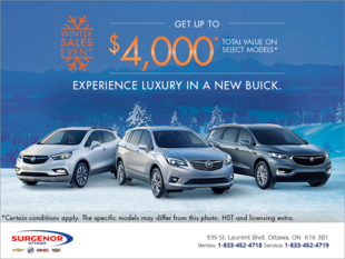 Experience Luxury in a new Buick