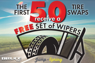 Free Wipers for First 50 Tire Swaps