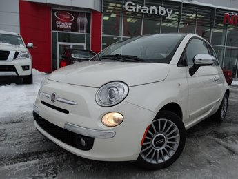 Fiat 500 2012 LOUNGE/MANUELLE/TOIT OUVRANT/CUIR/BLUETOOTH/MAGS