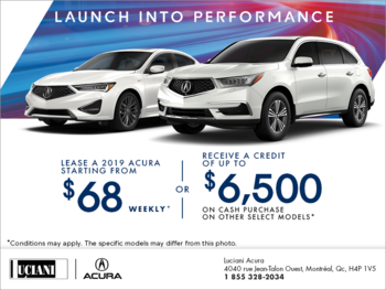 The Acura Launch Into Performance Sale