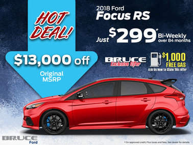 $13,000 off 2018 Ford Focus RS!