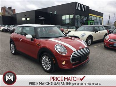 2014 MINI Cooper FIRE RED ON WHITE ROOF BLACK INTERIOR 6 SPEED MANUAL 3 CYLINDER