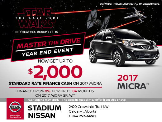 Save on a new 2017 Micra today!