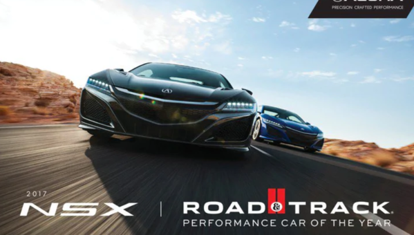 Acura NSX Named Road and Track 2017 Performance Car of the Year