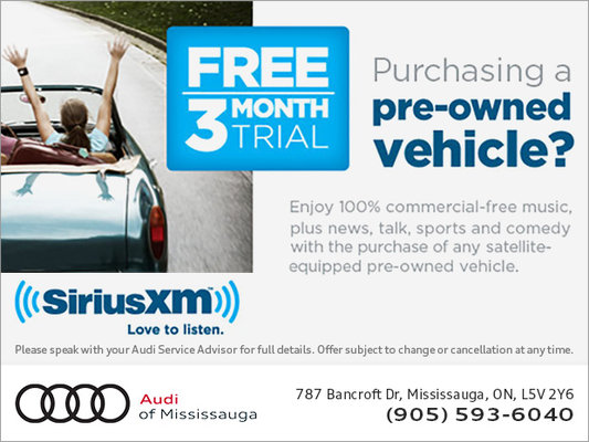 Free 3 Month Trial - Audi Mississauga Promotion in Mississauga