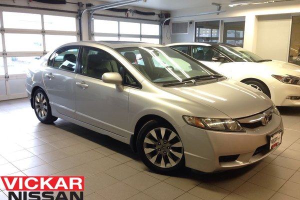 2009 Honda Civic EX-L/LEATHER/MOONROOF/LOW LOW KMS!!