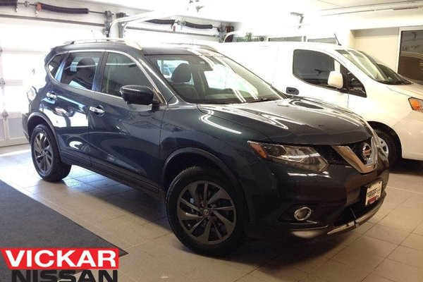 2016 Nissan Rogue SL/LEATHER/NAVI/1 OWNER LOCAL TRADE!!