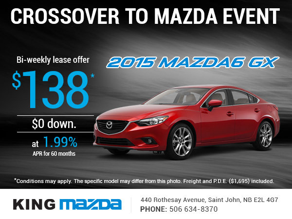 Get An All New 2015 Mazda6 GX Today!