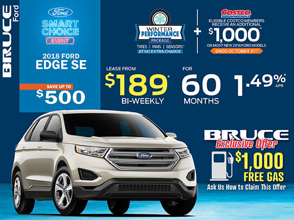 Lease the 2018 Ford Edge SE for Just $189 Bi-Weekly
