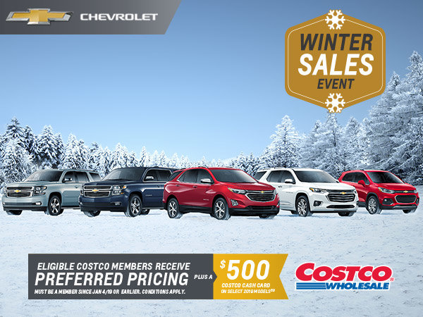 *Limited Time Chevrolet Offer* Preferred Pricing for Eligible Costco Members