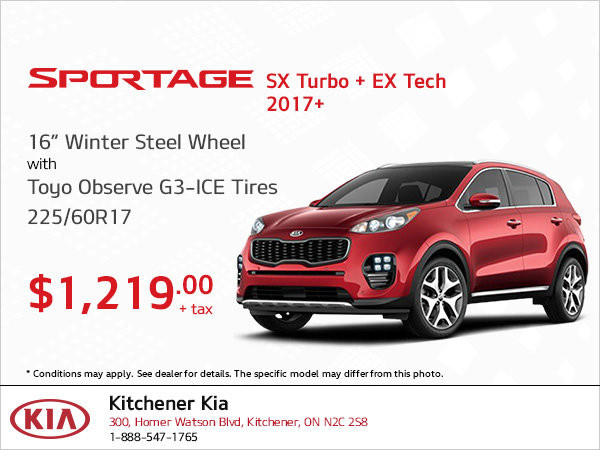 Get Winter Steel Wheel Tires for Your Sportage SX Turbo and EX Tech!