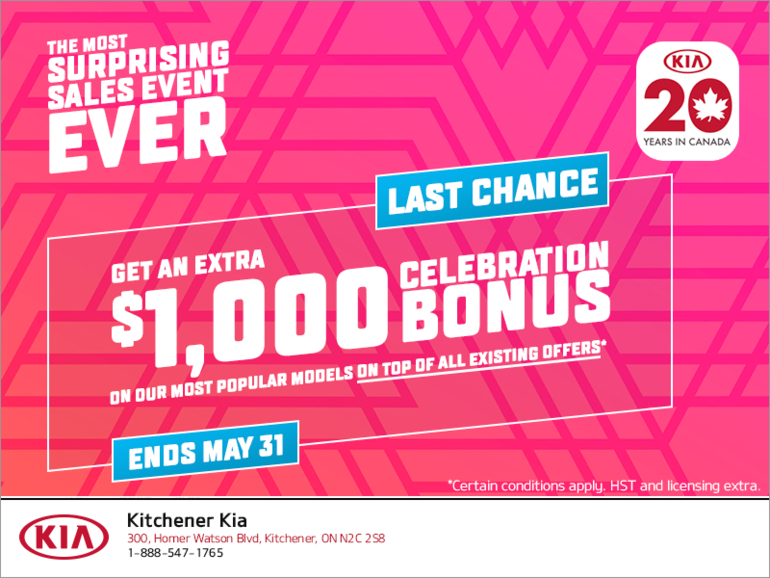 The Kia 20 Years in Canada Sales Event!