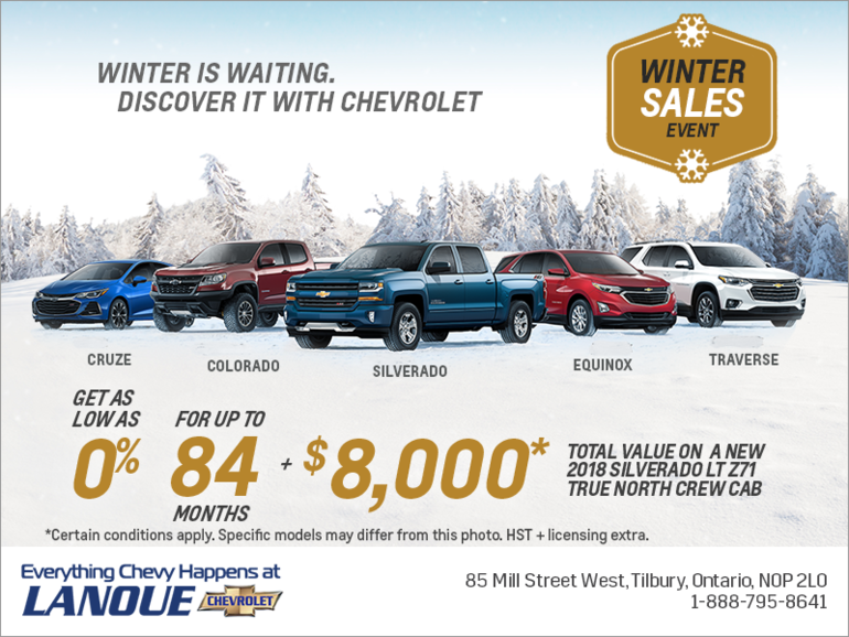 Winter is Waiting. Discover it With Chevrolet.