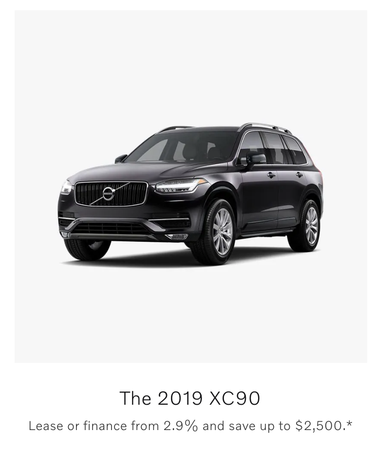 Manufacturer discount on the Volvo XC90