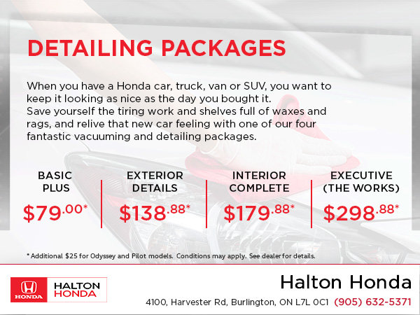 Our Detailing Packages