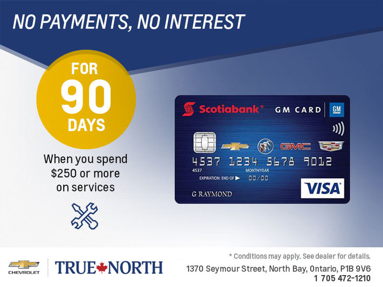The Scotiabank GM Card | at True North Chevrolet
